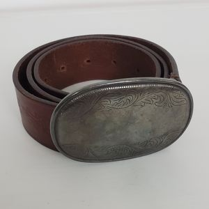 Abercrombie and Fitch Leather Tooled Belt Small